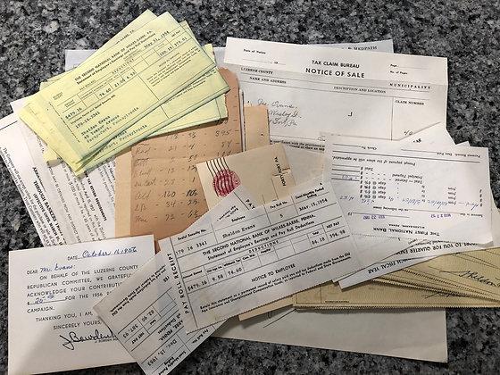 Vintage Banking ephemera pack 40+ pieces