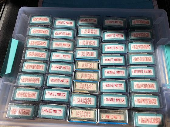 NOS Vintage XStamper  Self Inking Stamp