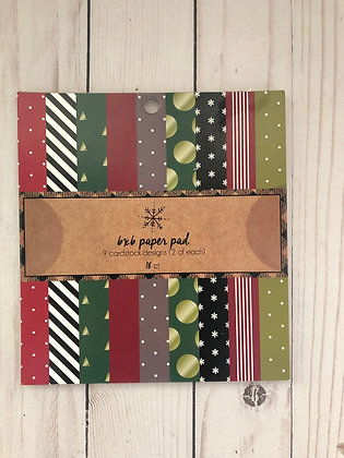 American Crafts  6 x 6 Patterns Christmas Pack