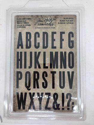 copy of Tim Holtz Cling Foam Stamps Capital Alpha Stamp set