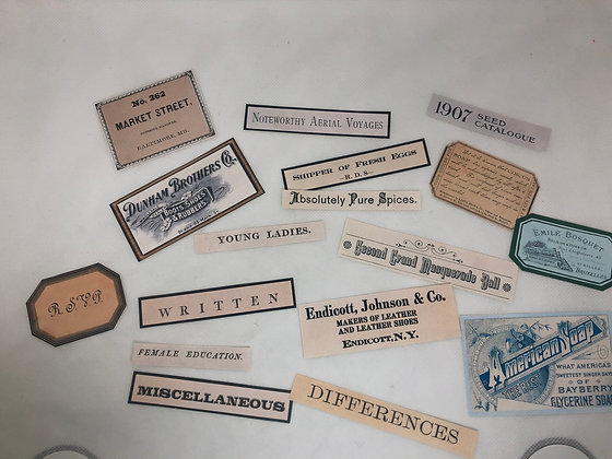 Set of 17 Advertisement and phrase stickers