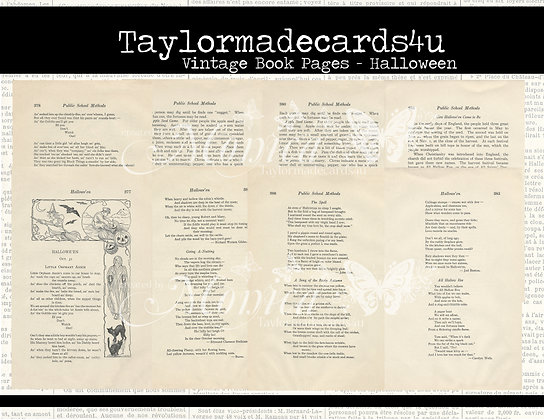 Halloween - Vintage School Pages