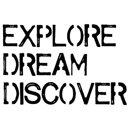 Stampers Anonymous Explore Dream Discover Cling Stamp by Tim Holtz