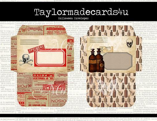 Halloween Envelopes - Passport Digital Kit add on