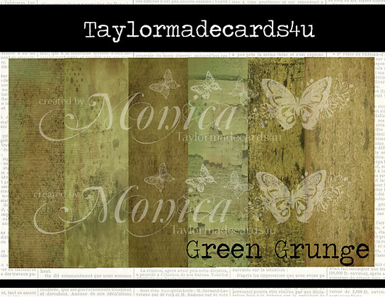 Green Grunge - Paper pack