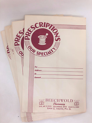 Beechwold Pharmacy Prescription Bags
