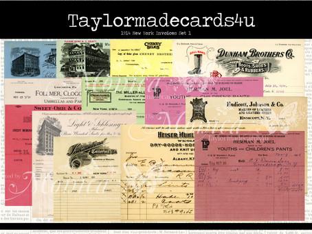1914 New York Invoices