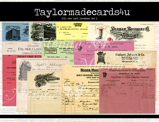1914 New York Colored Invoices