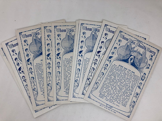 Fortune - Whom Should I Marry Astrology Cards - set of 4
