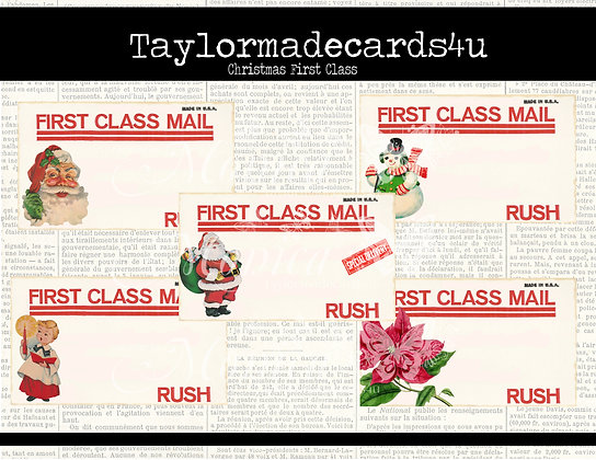 Christmas First Class- Mailing Labels