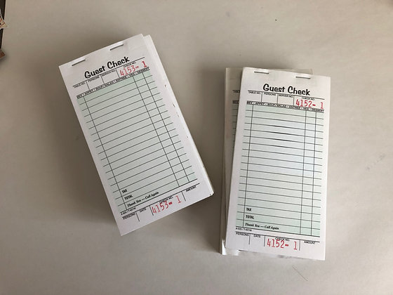 Restaurant Guest Check Receipt Book