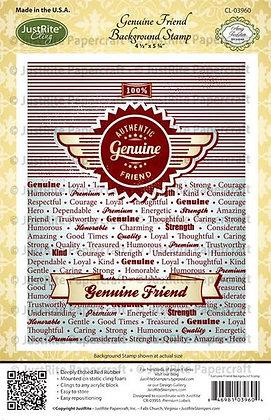 JustRite stamps - Genuine Friend Background Stamp