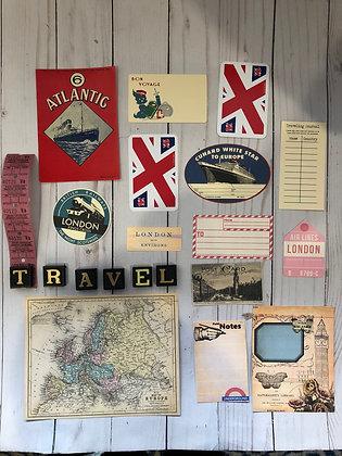 London Travel theme Embellishment Pack