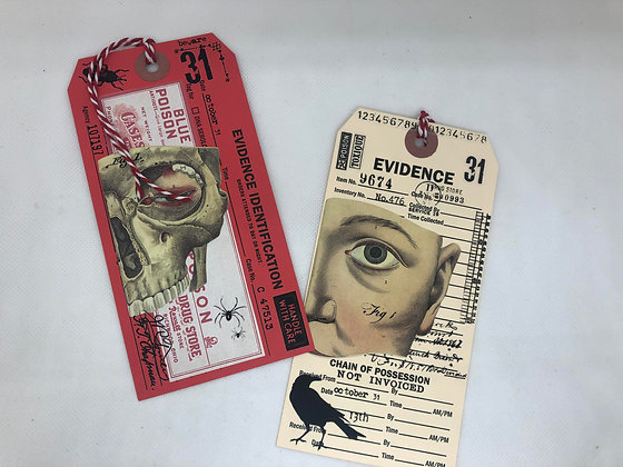 Halloween Pocket Tags with Poison Labels