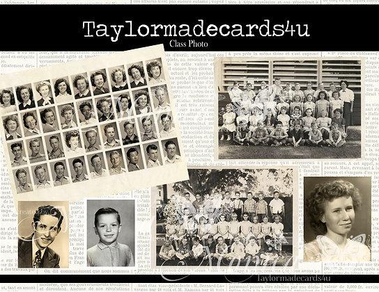 Class Photos School Ephemera -Vintage Digital Ephemera