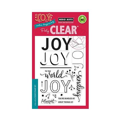 Joy To The World Hero Arts Stamp set