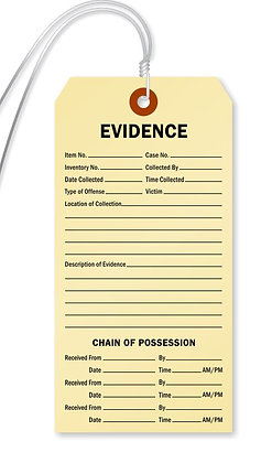 Evidence Tags - Set of 10
