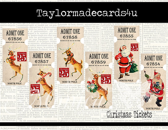 Christmas Tickets - Digital Download