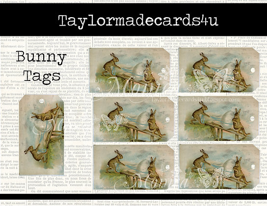 Easter Bunny Tags - Set of 7
