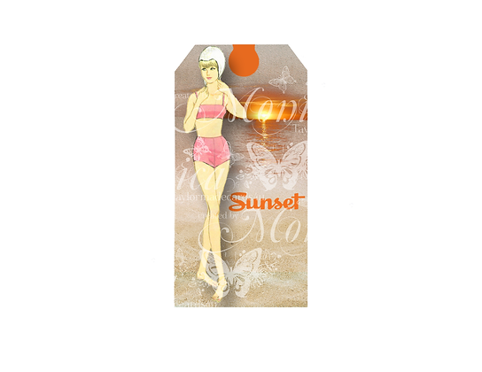 Summer Paper Doll Tag