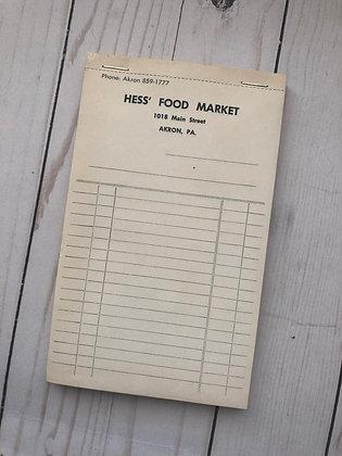 Hess Market Receipts- Set Of 4