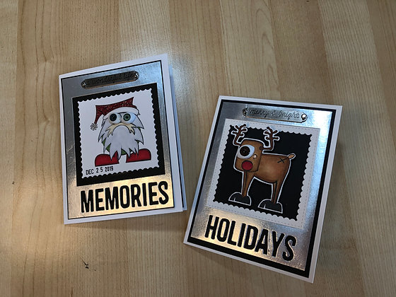 Misfits Set of 2 Christmas Cards
