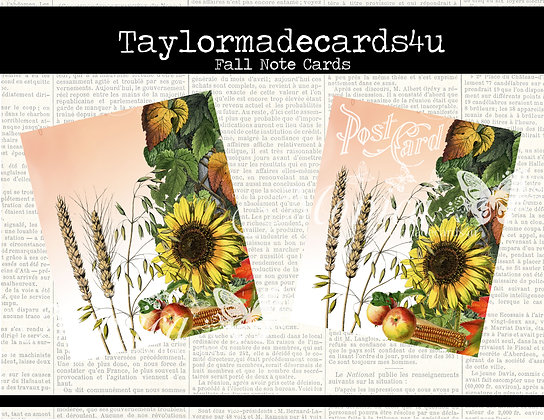 Fall Note Cards - Digital Download