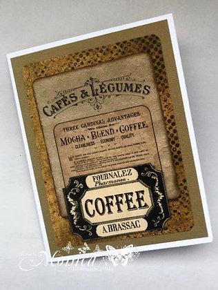 Vintage Coffee Card