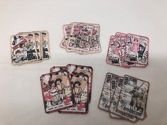 Set of 25 Label stickers - Valentine theme