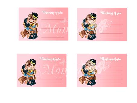 Monkey Note Cards