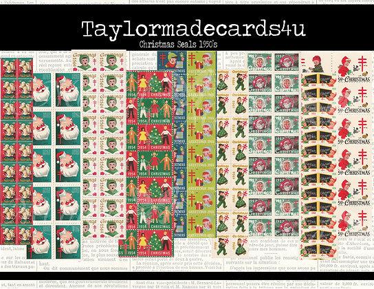 10 Sheets 1950 - 1959 Christmas Seals