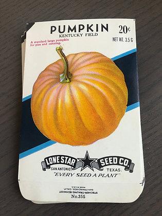 Pumpkin Vintage Seed packs