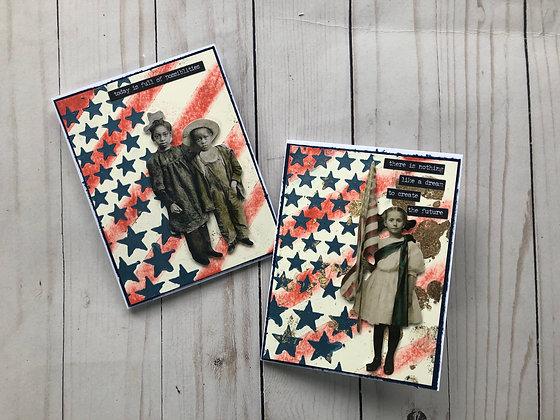 Patriotic Card - Stars and Stripes