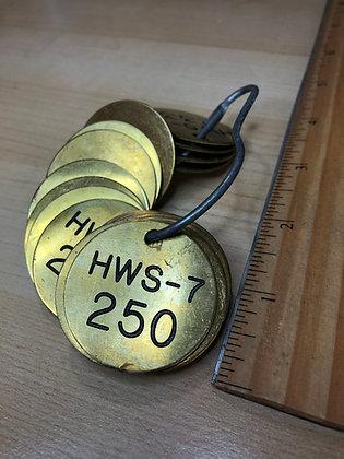 Vintage Brass Tags