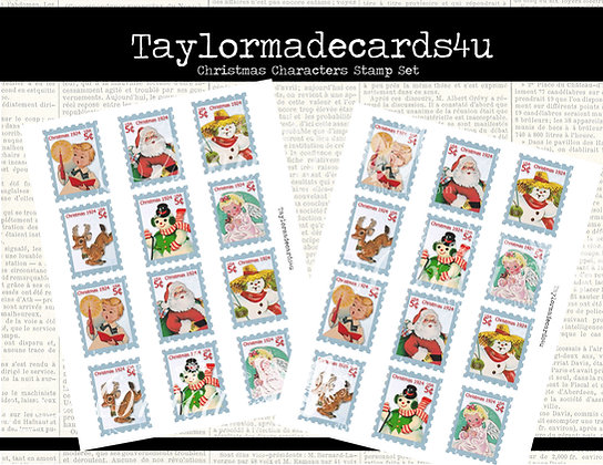 Christmas Characters Postage Stamps