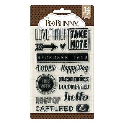 BoBunny Acrylic Stamp Set - Captured