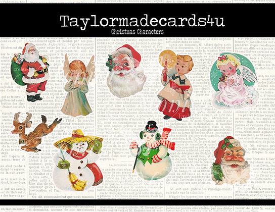9 Christmas Character Digital images
