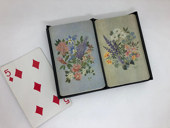 Vintage Playing Cards - Set of 6
