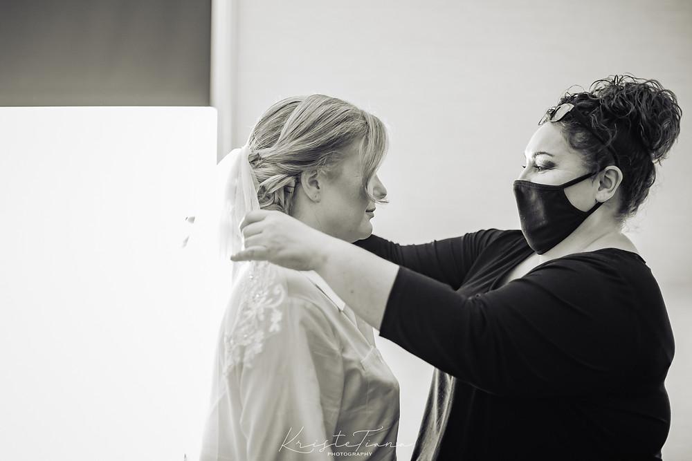 bridal prep veil