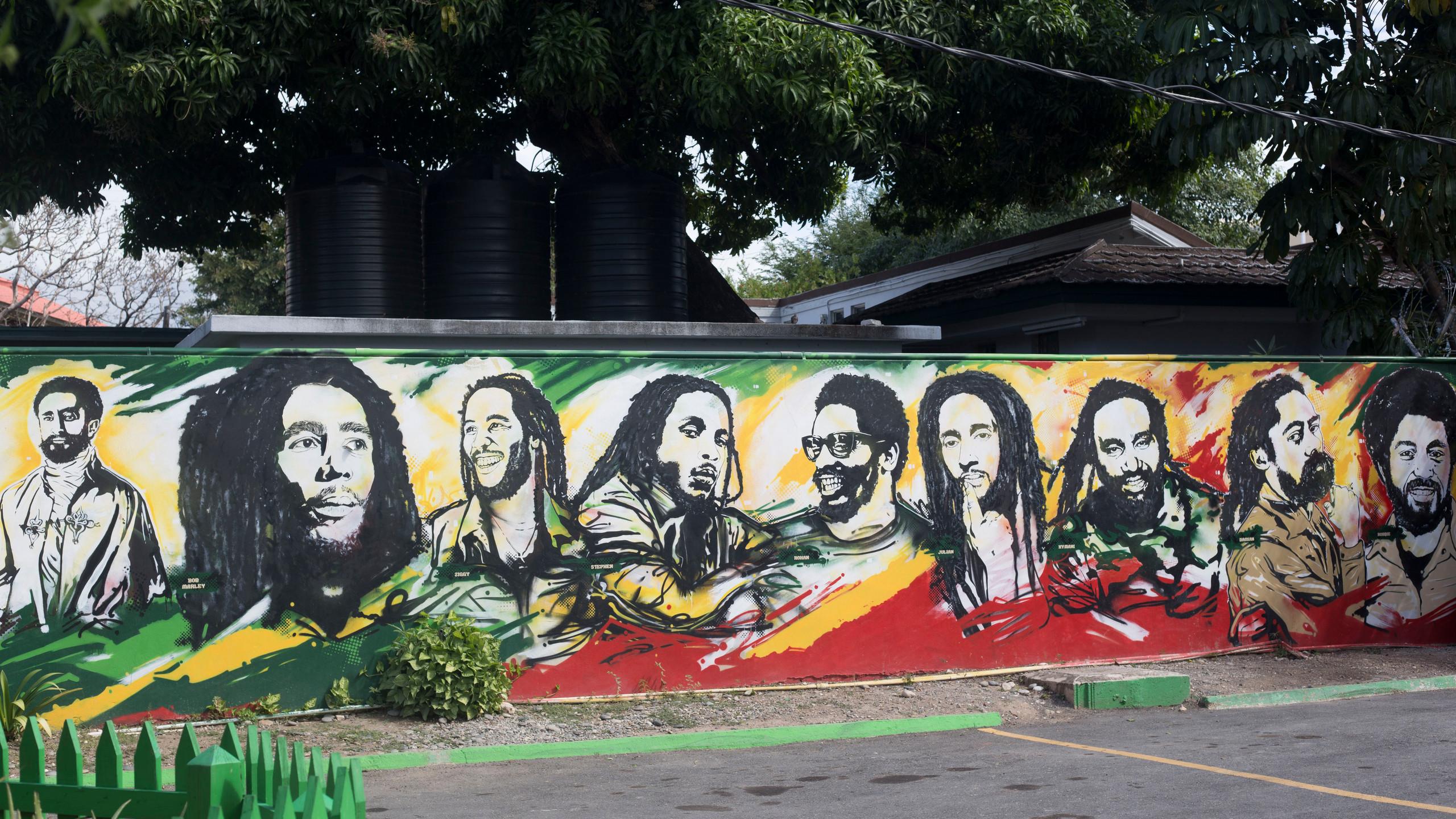 Bob Marley Family Wall