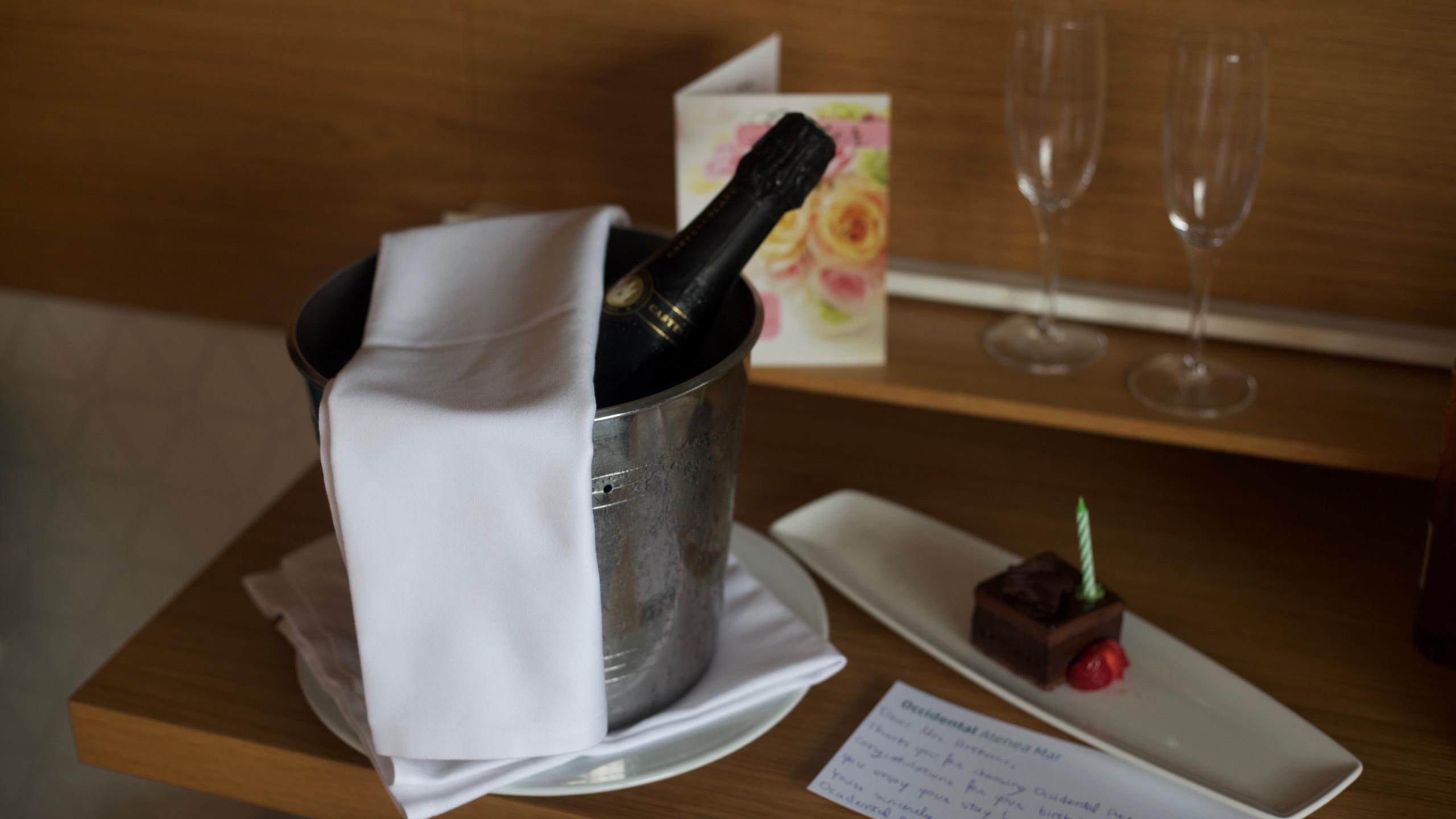 Hotel birthday gift