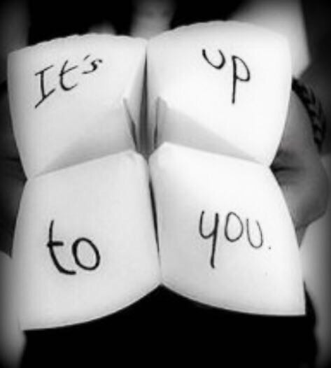 Its up to you