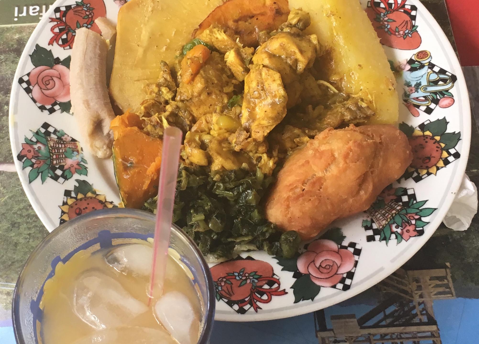 Chicken curry breakfast