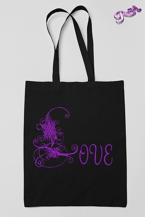 Purple Love Symbol Tote bag