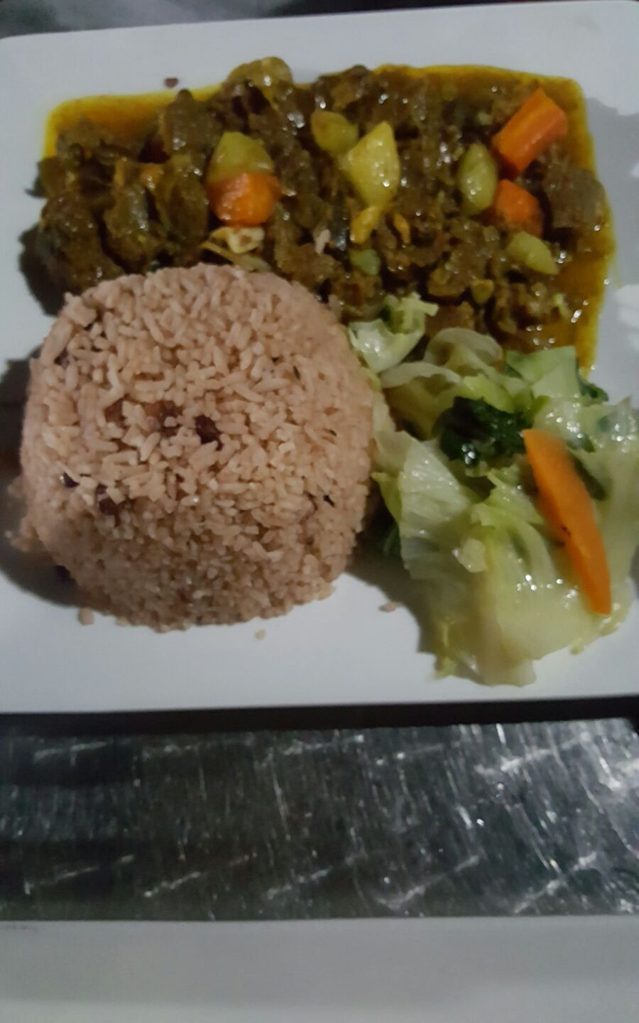 Curry Goat meal