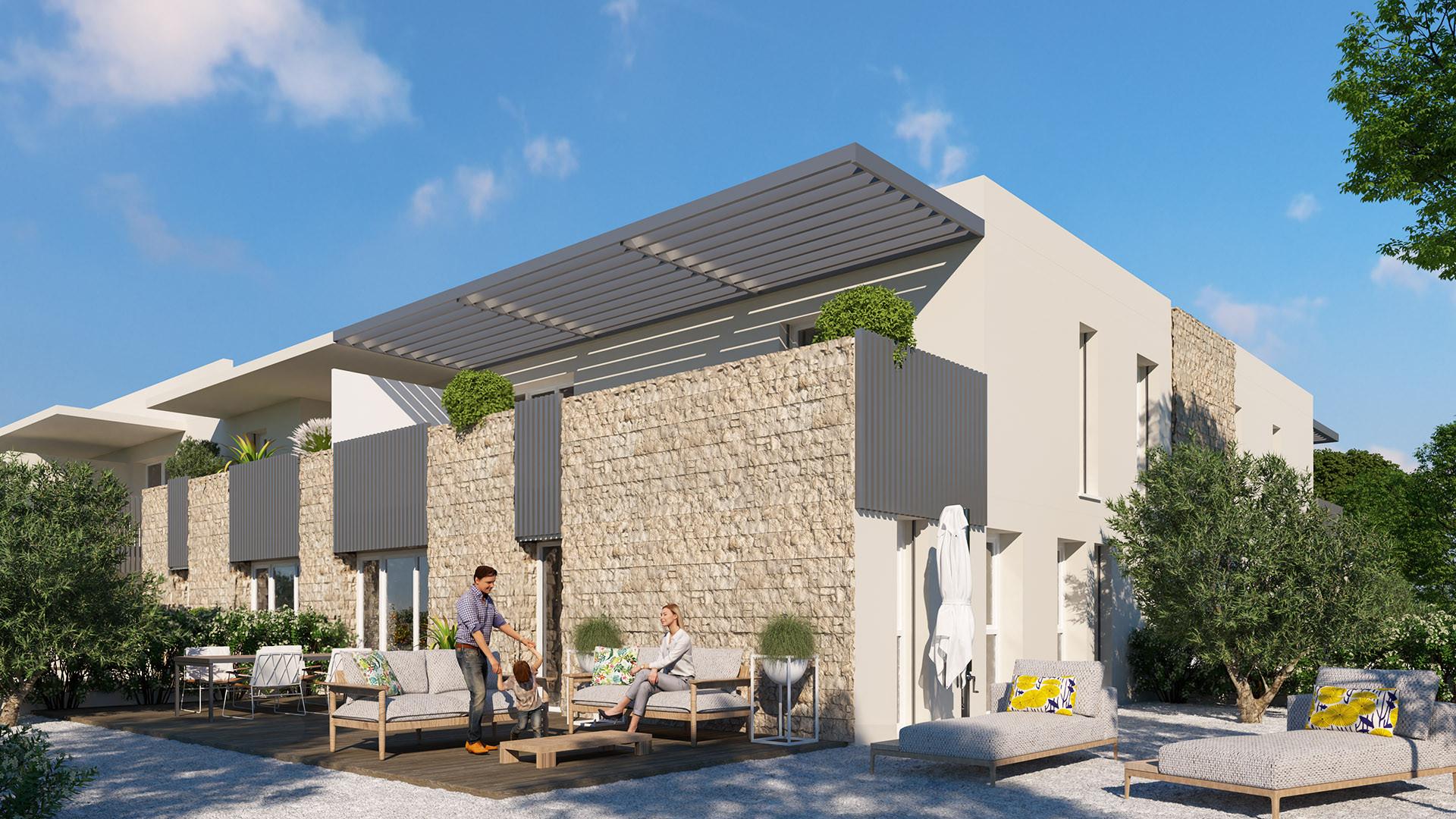 Villa Terranea - jardin orienté ouest