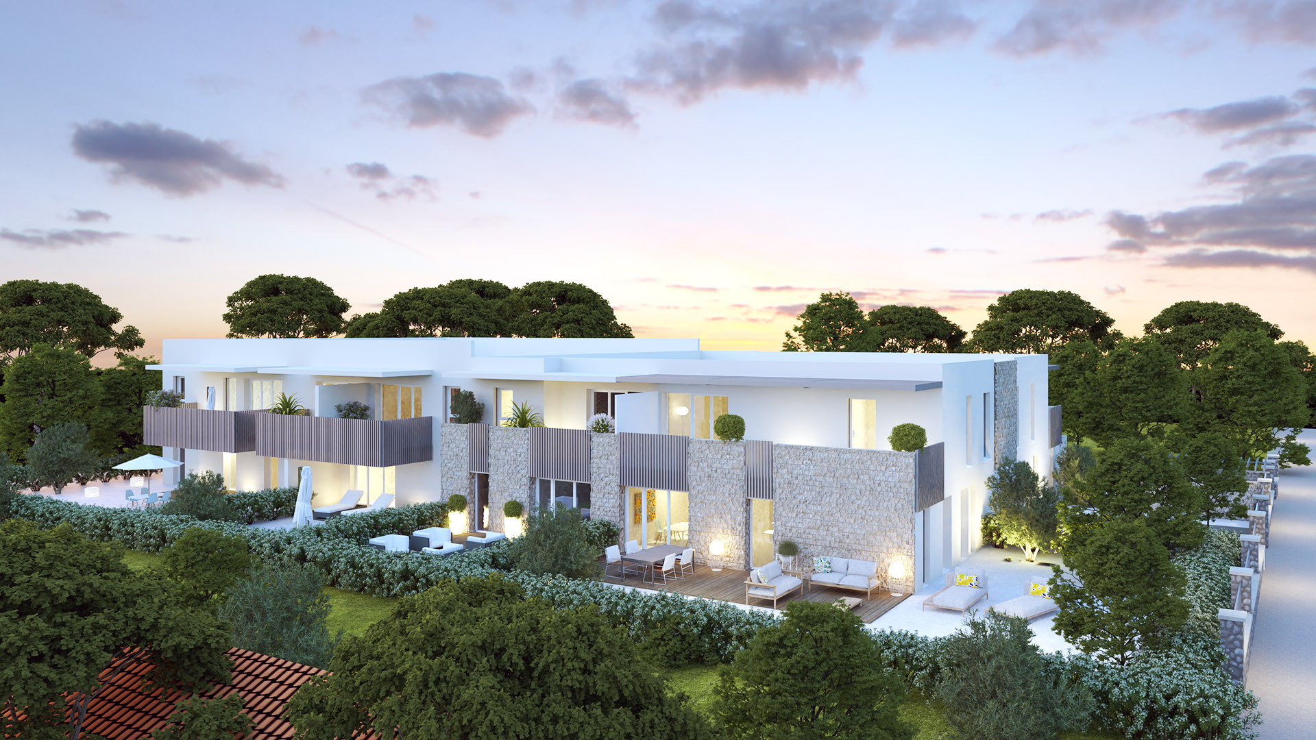 Villa Terranea - Perspective Ouest