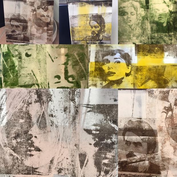 """""""Neue Portraits auf Aluminium"""" im Atelier in Reinach zu sehen..."""