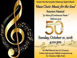 "Mass Choir ""MUSIC FOR THE SOUL"" Reunion Musical"