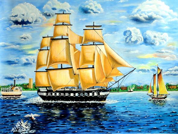 An Exotic Sailing Adventure | Acrylic